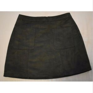 Old Navy women's skirt 8 shift faux suede green